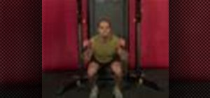Exercise with the cable squat jump