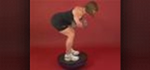 Exercise with the reverse dumbbell fly on bosu flat up