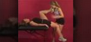 Exercise with assisted hip flexors stretch on table