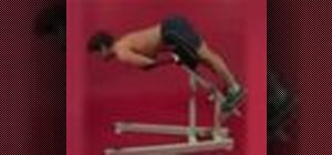 Exercise w/ back extension on machine w/ arms on chest