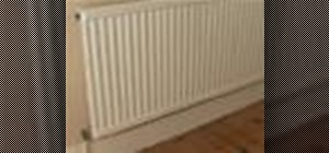 Temporarily remove a radiator for interior decorating