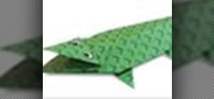 Origami a crocodile Japanese style