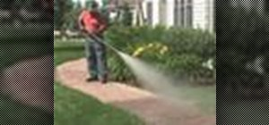 Clean and brighten brick patios with a pressure washer