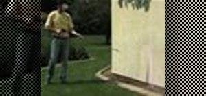 Pressure wash stucco around a house