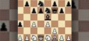 Catch the black queen in a chess middle game