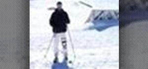 Practice advanced snow skiing tricks