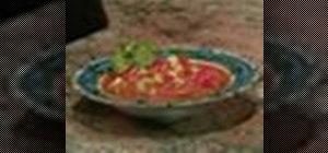 Make a chunky tomato gazpacho