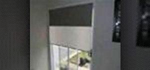 Install inside mount double roller blinds