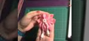 Sew a felt geisha flower embellishment