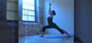 Practice a warrior triangle yoga sequence
