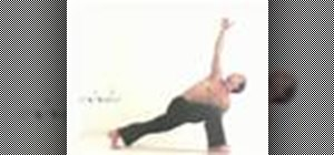 Practice a yoga trikonasana sun salutation sequence