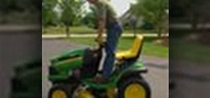 Use John Deere riding lawn equipment safely