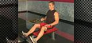 Do one arm seated row exercises