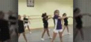 Do cheerleading dance combinations