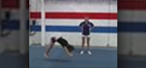 Do front and back handsprings in cheerleading
