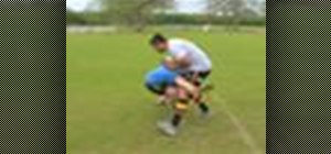 Tackle in a game of rugby