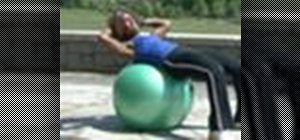 Use a stability ball for core muscle exercises