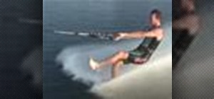 Do advanced barefoot water ski tricks
