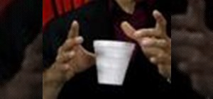 Perform a floating cup magic trick