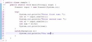 Fix exceptions when programming in Java