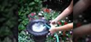 Turn a salvaged urn into a garden fountain