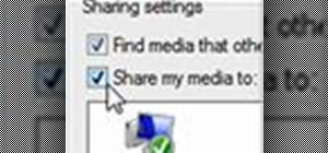 Share media with Windows Media Player