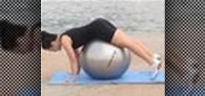 Do a prone hip extension on a ball