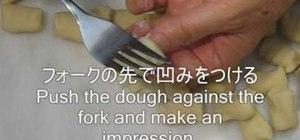 Make potato gnocchi