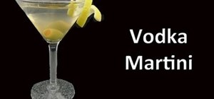 Make a perfect vodka martini