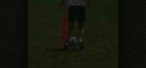 Practice same foot dribbling for soccer