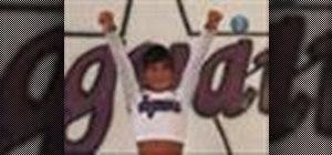 Do a tuck jump in cheerleading