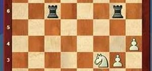 Use the knight fork tactic in a chess game