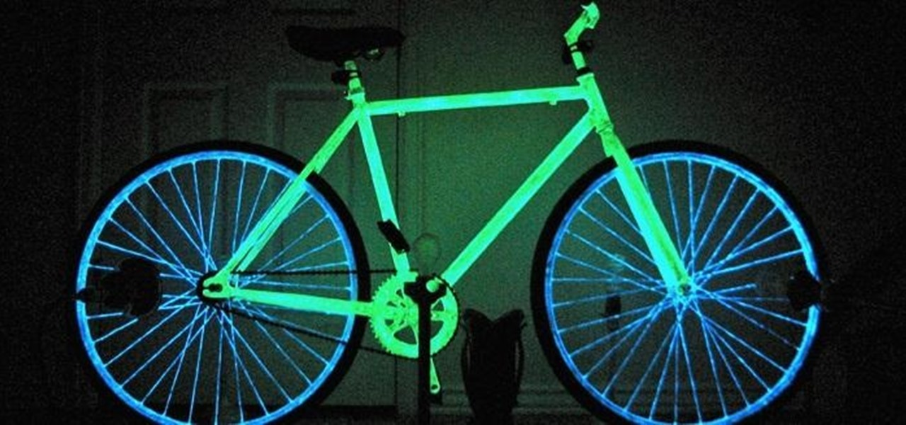 make your night bike glow in the dark with phosphorescent