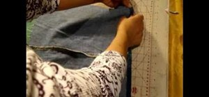 Upcycle a pair of blue jeans into a tote bag