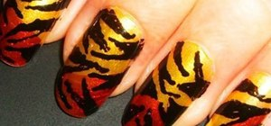Create Rihanna-inspired tiger print nails