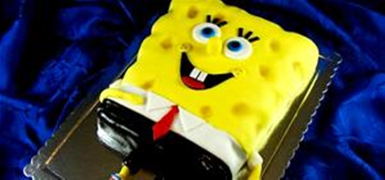 How To Make A Sponge Bob Square Pants Birthday Cake