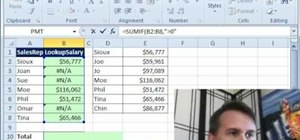 Add a column of numbers while ignoring #N/A errors in Excel