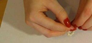 Make DIY pearl cluster earrings