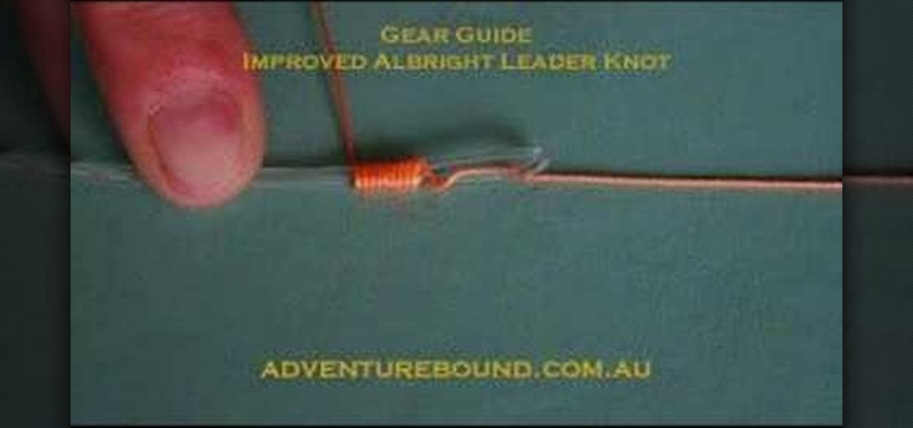 How to Tie an improved Albright leader knot for fishing