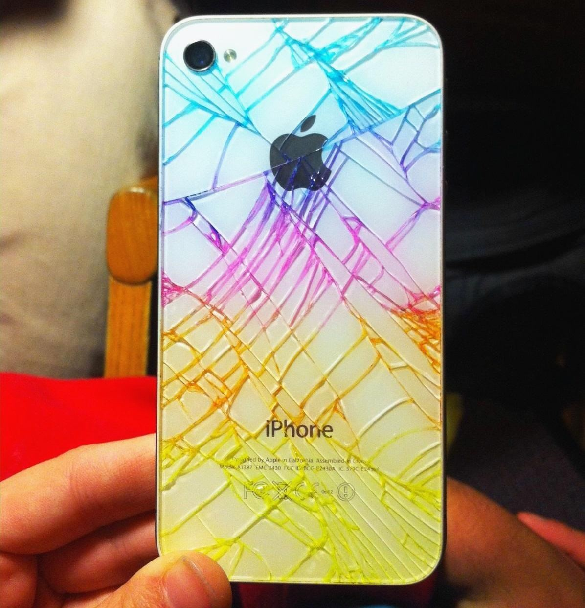 iphone quick tip add color to make your broken rear glass panel look less broke smartphones gadget hacks - Color A Picture
