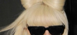 Do the Lady Gaga Poker Face bow hairstyle