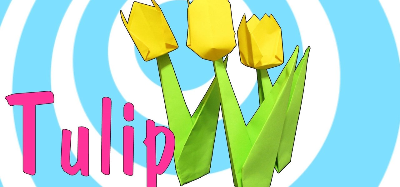 Make an Origami Tulip Flower with Stem