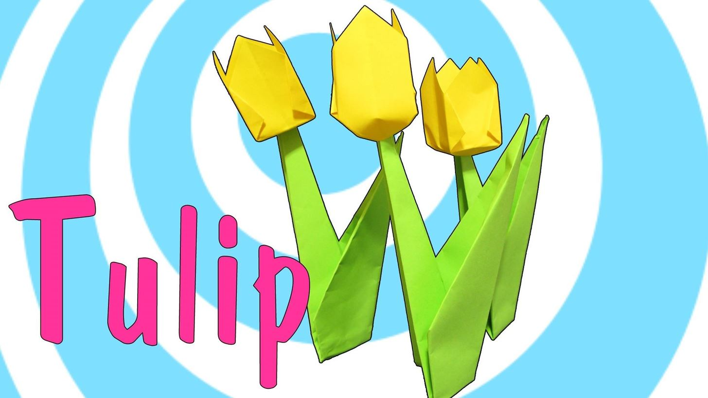 How To Make An Origami Tulip Flower With Stem Origami Wonderhowto
