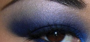 Create a matte royal blue smokey eyeshadow makeup look