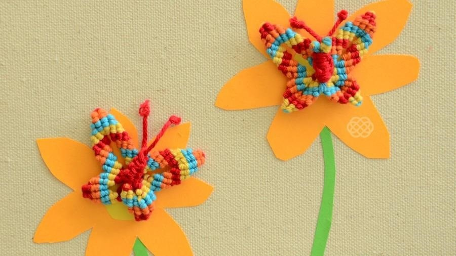How to Macramé a Butterfly