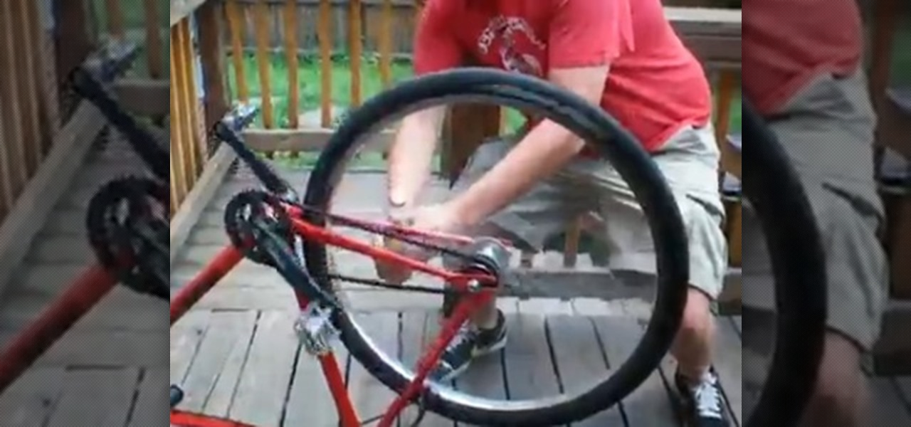 Open a Beer Bottle Using the Back Wheel of a Bicycle