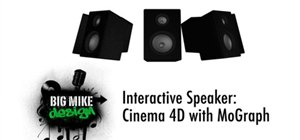 Model a speaker that reacts to sound in Cinema 4D