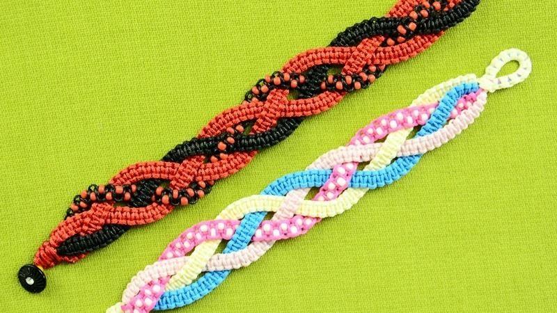 Braided Square Knot Bracelet Tutorial