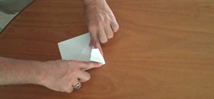 Fold an origami style paper airplane