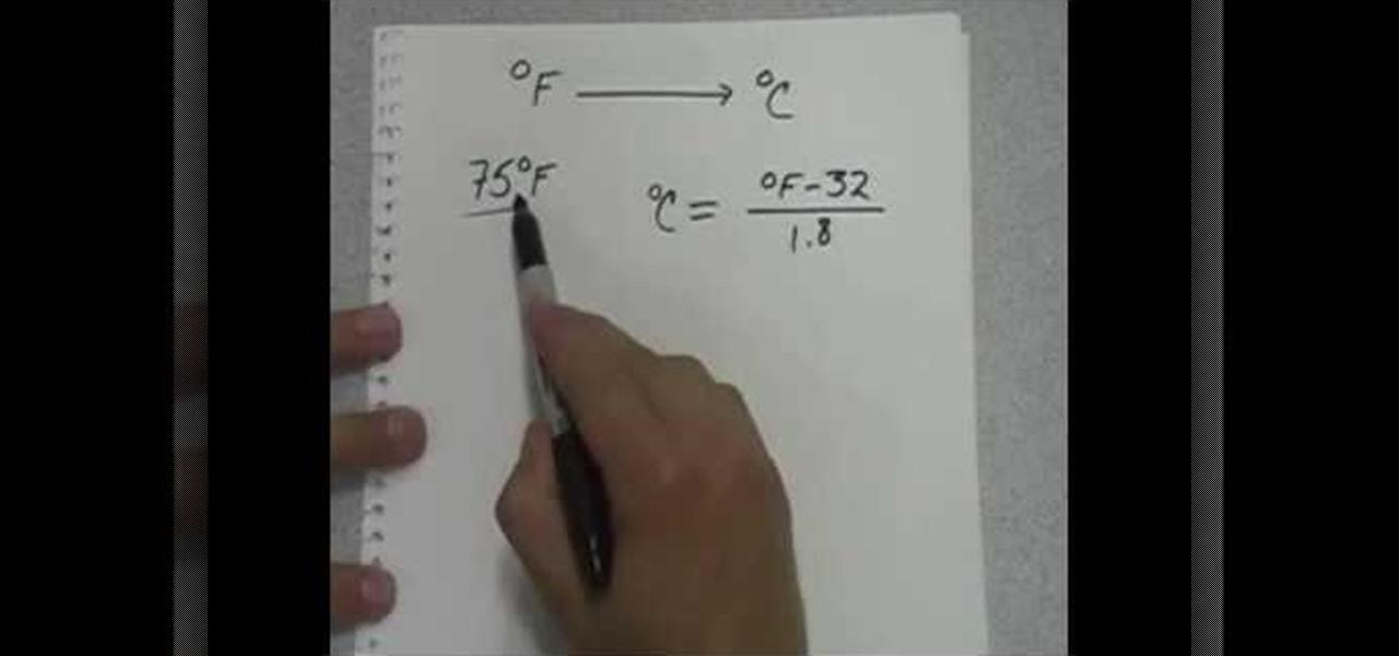 Celsius Conversion Math